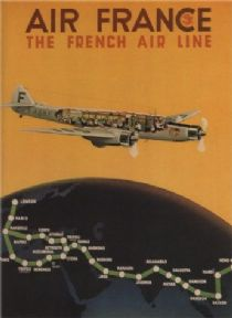 Vintage French poster - Air France, the French air line (1936)
